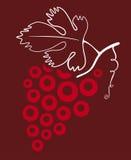 вино виноградины иллюстрация вектора