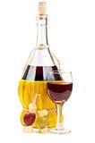 вино виноградин бутылки красное Стоковая Фотография RF