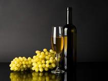 вино виноградин бутылочного стекла белое Стоковое Изображение