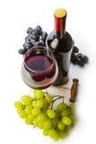 вино виноградин бутылочного стекла красное Стоковые Фотографии RF