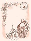вино виньетки предпосылки Стоковая Фотография