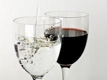 вино воды Стоковая Фотография