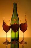 вино выплеска стоковое фото rf