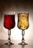 Вино в стекле в темноте Стоковое Изображение RF