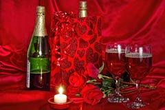 Вино в сумке подарка Стоковое Изображение