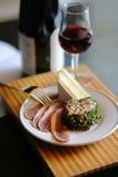 вино гавани закусок Стоковые Фото