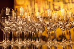 вино голубых стекел dof отмелое Стоковые Фото