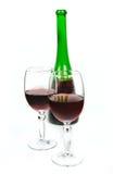 вино голубых стекел dof отмелое Стоковое Фото