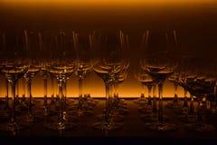 вино голубых стекел dof отмелое Стоковая Фотография