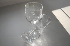вино голубых стекел dof отмелое Стоковое Изображение RF