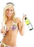 вино девушки Стоковые Фотографии RF