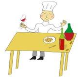 вино дегустатора иллюстрации Стоковые Изображения RF
