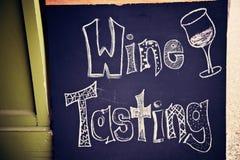 вино дегустации знака Стоковые Фотографии RF