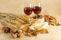 вино декора осени Стоковое фото RF