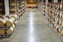 вино долины napa погреба Стоковое Изображение