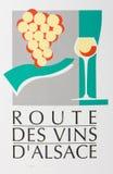 вино дороги alsace стоковые фото