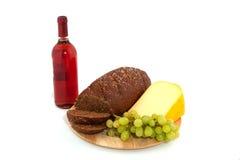 вино еды сыра хлеба все Стоковые Фотографии RF