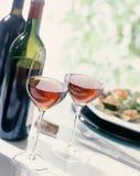 вино еды Стоковая Фотография