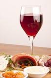 вино еды Стоковые Изображения