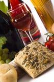 вино еды Стоковое Изображение RF