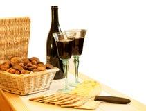 вино ек шутих сыра Стоковые Изображения RF