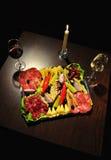 вино закусок Стоковое Фото