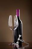 вино затвора штопора бутылки Стоковые Изображения
