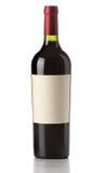 вино изолированное бутылкой Стоковое Фото