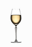 вино изолированное стеклом белое Стоковая Фотография RF