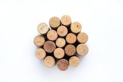 вино изолированное пробочками Стоковая Фотография
