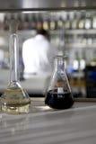 вино испытания лаборатории Стоковое фото RF