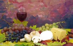 вино и виноградины Стоковое Изображение RF
