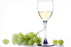 Вино и виноградины Стоковые Фото