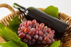 Вино и виноградины Стоковая Фотография RF