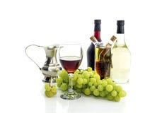 Вино и виноградины Стоковое Изображение