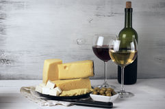 Вино и сыр Стоковое фото RF