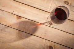 Вино и тень Стоковая Фотография