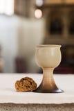 Вино и хлеб Стоковая Фотография RF
