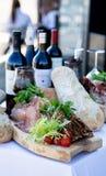 Вино и хлеб Стоковые Изображения RF