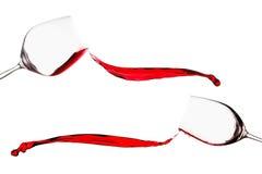 вино красного выплеска предпосылки белое стоковые изображения rf
