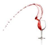 вино красного выплеска предпосылки белое Стоковое фото RF