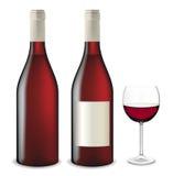 вино красного цвета установленное Стоковые Изображения