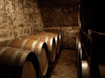 Вино несется погреб Стоковые Фотографии RF