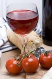 вино обеда деревенское Стоковая Фотография RF