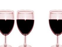 вино обеда пляжа стеклянное Стоковое Изображение