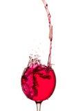 вино обеда пляжа стеклянное Стоковое фото RF