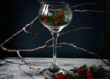 вино обеда пляжа стеклянное Стоковая Фотография RF