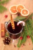 Вино обдумыванное рождеством, взгляд сверху стоковое изображение