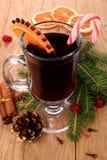 Вино обдумыванное рождеством стоковые фотографии rf