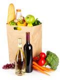 вино овощей мешка бумажное Стоковая Фотография